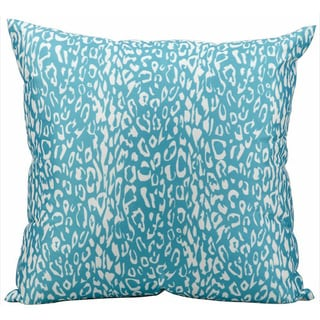 Nourison Mina Victory Turquoise 20-inch Leopard Print Indoor /Outdoor Throw Pillow