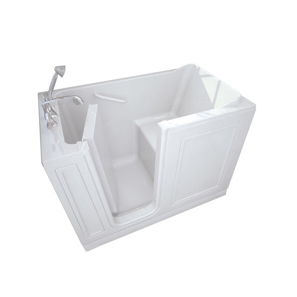4.25-foot Left-hand Drain White Walk-in Bathtub
