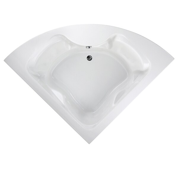 Cadet 5-foot White Acrylic Bathtub with Reversible Drain