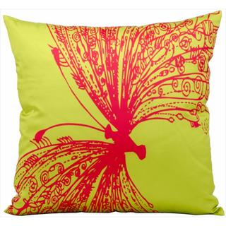 Nourison Mina Victory Green 18-inch Butterfly Print Indoor /Outdoor Throw Pillow