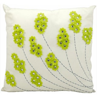 Nourison Mina Victory 20-inch Apple Green Indoor /Outdoor Throw Pillow