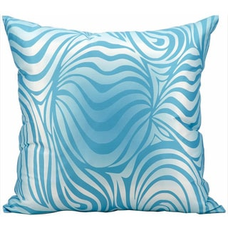 Nourison Mina Victory 18-inch Turquoise Swirl Indoor /Outdoor Throw Pillow