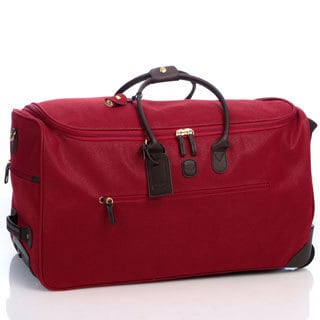 Bric's Life Red 28-inch Rolling Duffel Bag