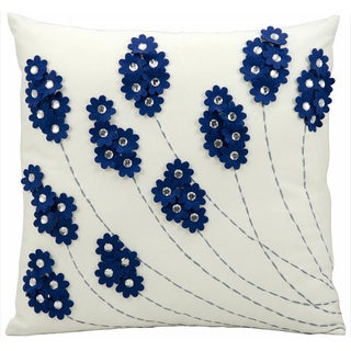 Nourison Mina Victory 20-inch Navy Indoor /Outdoor Throw Pillow