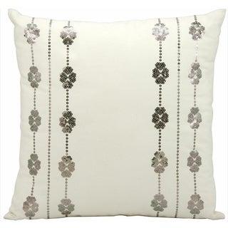 Nourison Mina Victory 20-inch Ivory Grey Indoor /Outdoor Throw Pillow
