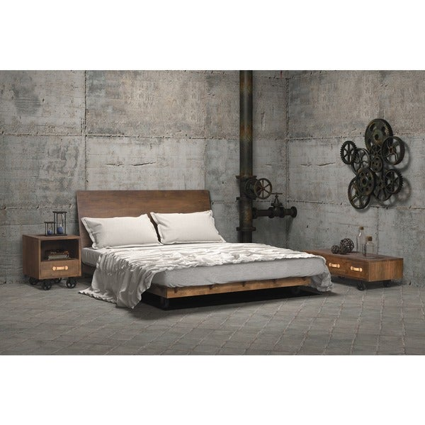 Oaktown Distressed Walnut Bed