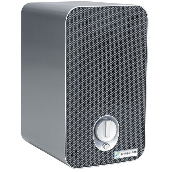 GermGuardian AC4100 3-in-1 Hepa Air Purifier System with UV Sanitizer, and Odor Reduction, 11-Inch Table Top Tower, Light Silver