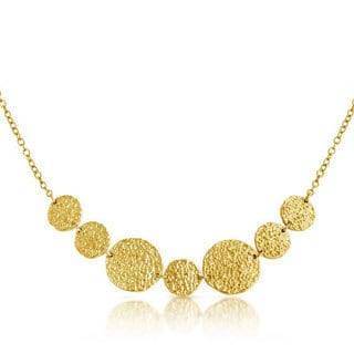 Belcho Gold Overlay Hammered Multi-size Plates Pendant Necklace