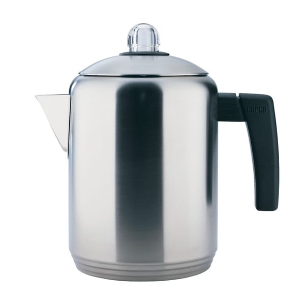 4 to 8 Cup Stovetop Brush Stainless Steel Percolator