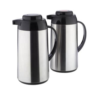 Copco 1-quart Brushed Stainless Steel Carafe (Set of 2)