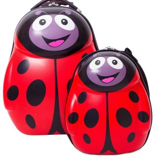 Cuties & Pals Polka Ladybird Kids Hardside Luggage 2-piece Set
