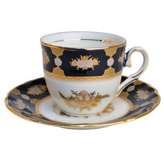 Alpine Cuisine Black Gold Coffee Cup Set (6 and 6)