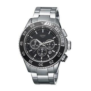 Esprit Men's ES103621007 Varic Chrono Black/ Silver Stainless Steel Watch