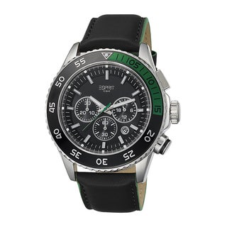 Esprit Men's ES103621001 Varic Chronograph Black/ Green Watch