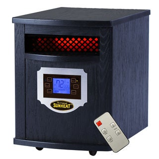 Sunheat Electric Portable 1500 Watt Infrared Heater with Remote Control and LCD Display