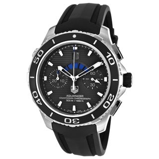 Tag Heuer Men's CAK211A.FT8019 Aquaracer Automatic Chronograph Black Dial Black Rubber Watch
