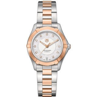 Tag Heuer Women's WAP2351BD0838 Aquaracer Mother of Pearl Dial Stainless Steel and 18kt Rose Gold Watch