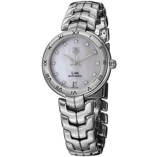 Tag Heuer Women's WAT2315.BA0956 Link Lady Automatic Diamond Mother of Pearl Dial Stainless Steel Watch