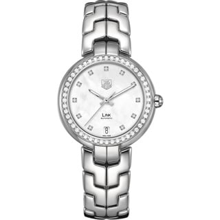 Tag Heuer Women's WAT2314.BA0956 Diamonds Silver Steel Bracelet & Case Anti-Reflective Sapphire Watch