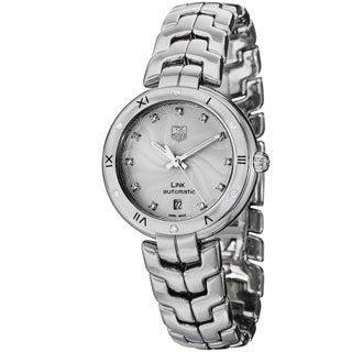 Tag Heuer Women's WAT2312.BA0956 Link Lady Automatic Diamond Silver Dial Stainless Steel Watch