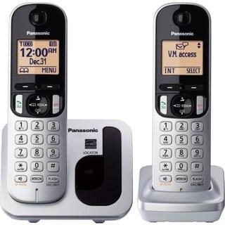 Panasonic KX-TGC212S DECT 6.0 1.90 GHz Cordless Phone - Silver