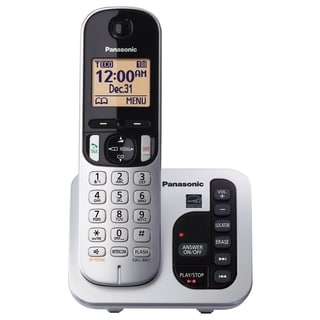 Panasonic KX-TGC220S DECT 6.0 1.90 GHz Cordless Phone - Silver