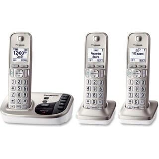 Panasonic KX-TGD223N DECT 6.0 1.90 GHz Cordless Phone - Champagne Gol