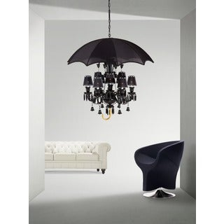 Sugilite Black 9-light Chandelier
