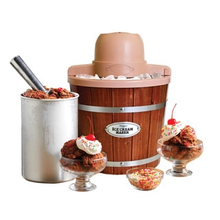 Nostalgia Electrics ICMP200WD Old Fashioned 2-quart Wood Ice Cream Maker