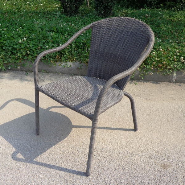International Caravan Cozumel Resin Wicker All Weather Dining Chairs Set Of