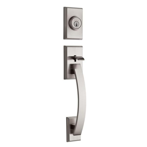 Tavaris Single Cylinder Exterior SmartKey Satin Nickel Handle Set