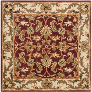 Safavieh Handmade Heritage Red/ Ivory Wool Rug (4' x 4')