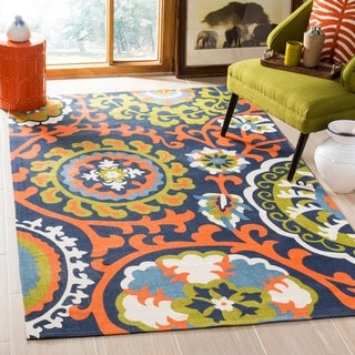Safavieh Hand-loomed Cedar Brook Orange Cotton Rug (2'3 x 3'9)