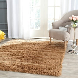 Safavieh Handmade Faux Sheep Skin Camel Acrylic Rug (5' x 7')