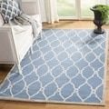 Safavieh Handmade Moroccan Cambridge Navy/ Ivory Wool Rug (3' x 5')