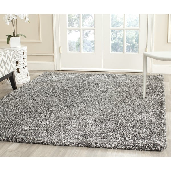 Safavieh New York Shag Dark Grey/ Dark Grey Rug (5'3 x 7'6)