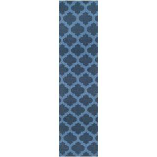 Safavieh Hand-woven Moroccan Reversible Dhurries Ink Wool Rug (2'6 x 7')
