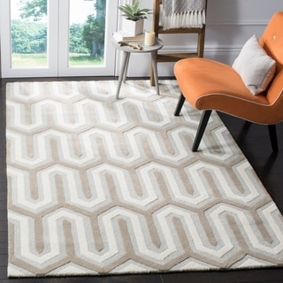 Safavieh Handmade Moroccan Cambridge Light Blue/ Grey Wool Rug (8' x 10')