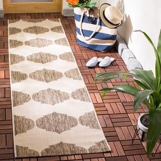 Safavieh Indoor/ Outdoor Courtyard Beige/ Brown Rug (2'3 x 8')