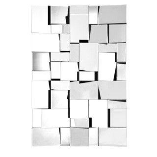 Clear Fractal Rectangular Mirror