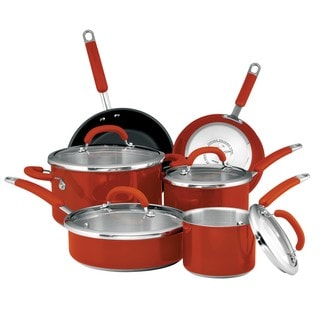 Rachael Ray Colored Stainless Steel Red 10-piece Set