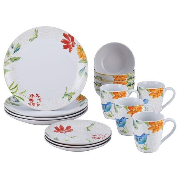 BonJour Dinnerware Al Fresco 16-piece Porcelain Stoneware Dinnerware Set