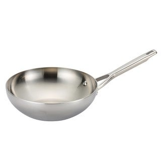 Anolon Tri-Ply Clad Stainless Steel 10.75-inch Stir Fry