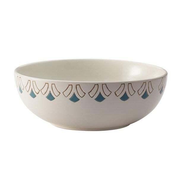 Rachael Ray Dinnerware Pendulum 10-inch Print Round Stoneware Serving Bowl 13306454