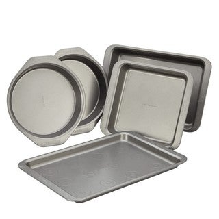 Cake Boss Basics Grey Nonstick Bakeware 5-piece Bakeware Set