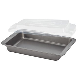 Cake Boss Basics Grey Nonstick Bakeware 9-inch by 13-inch Covered Cookie Pan