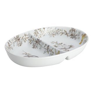 BonJour Dinnerware Fruitful Nectar Porcelain Stoneware 11-inch Divided Dish