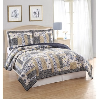 Dumont Patchwork Cotton 3-piece Quilt Set