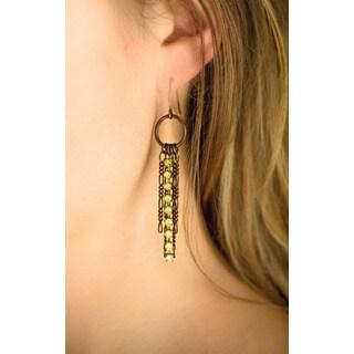 Melrose Avenue Fiagro Chain and Opal Rhinestone Dangle Earrings