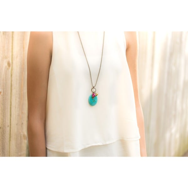 Summer Breeze Multi-charm Pendant Necklace
